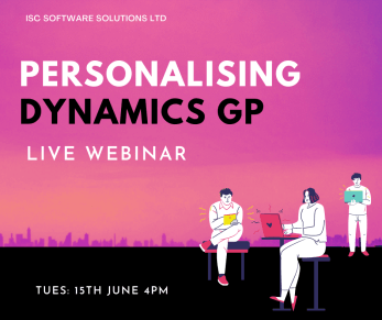 Personalising  Microsoft Dynamics GP