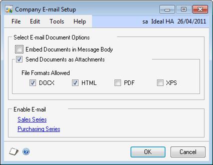 Company E-Mail Setup