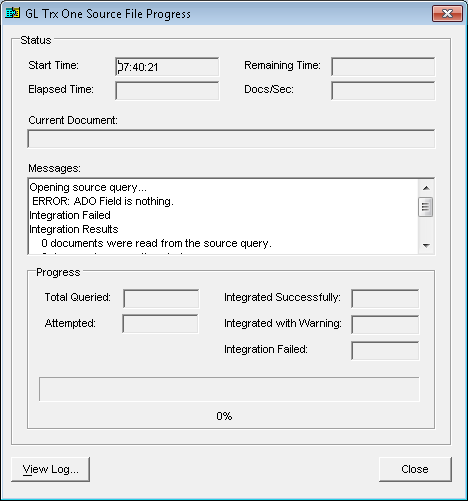 Integration Manager: ADO Field Is Nothing