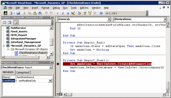 Visual Basic Editor - Check Remittance