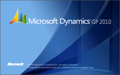 Microsoft Dynamics GP 2010 Splash