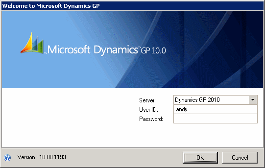 Welcome to Microsoft Dynamics GP 10