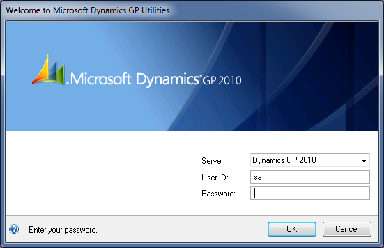 Microsoft Dynamics GP 2010 Utilities - With Data Source