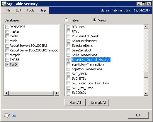 SmartList Builder - Create Historical Transactions SmartList