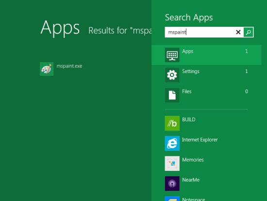 Windows 8 Developer Preview - Metro Home Screen App Search