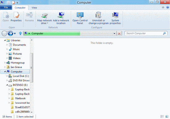 Windows 8 Developer Preview - Windows Explorer Ribbon Bar