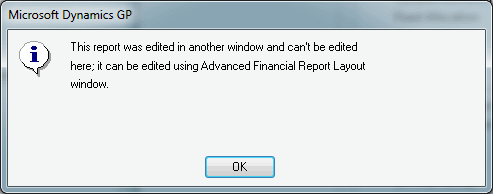 This report was edited in another window and can