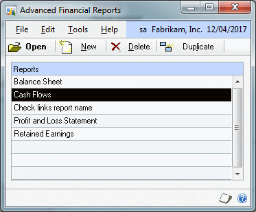 Advanced Financial Reports