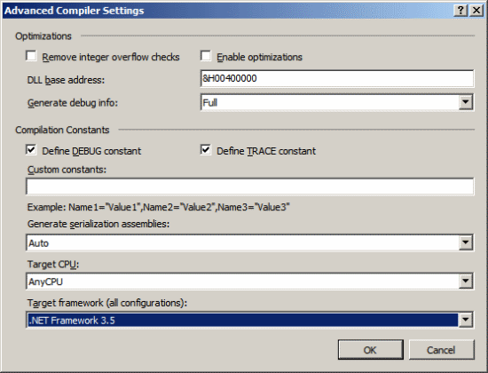 Visual Studio Tools For Microsoft Dynamics GP - Change Target Framework