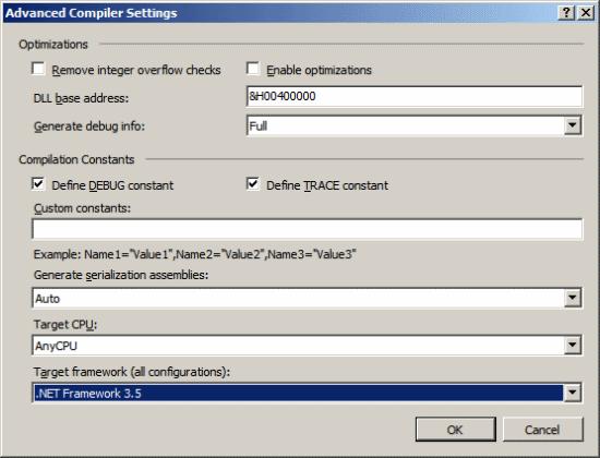 Visual Studio Tools For Microsoft Dynamics GP - Change Target Framework
