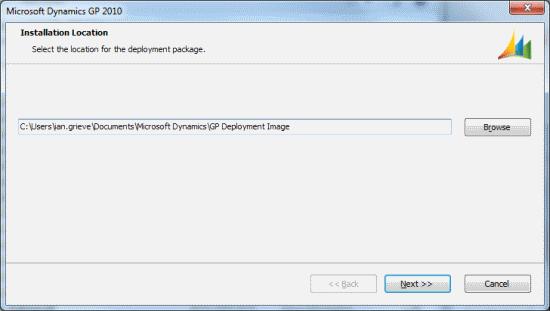 Microsoft Dynamics GP - Installation Location