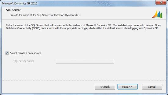 Microsoft Dynamics GP - SQL Server