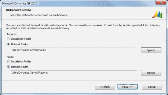 Microsoft Dynamics GP - Dictionary Location