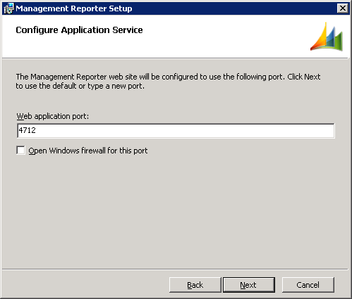 Management Reporter Setup - Configure Application Service