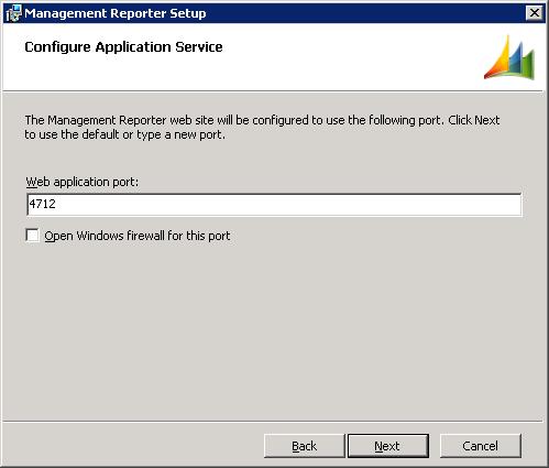 Management Reporter Setup - Configure Application Service