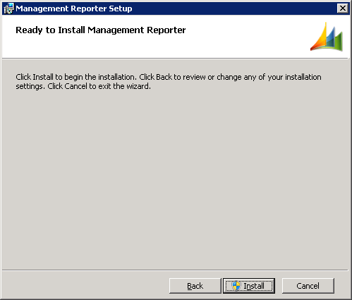 Management Reporter Setup - Ready to Install Management Reporter