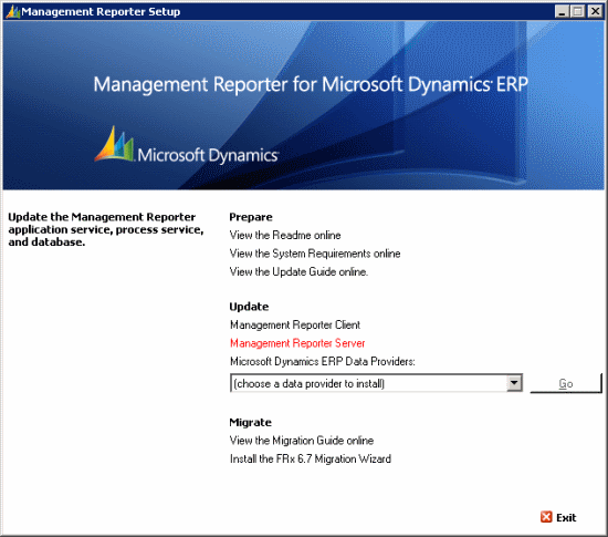 Management Reporter for Microsoft Dynamics ERP Service Pack 2
