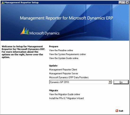Management Reporter Setup for Microsoft Dynamics ERP SP2 Setup