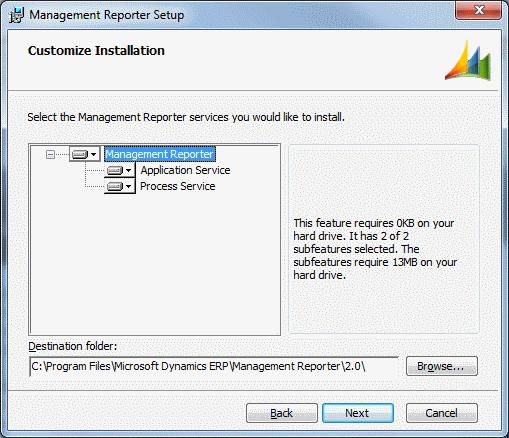 Management Reporter Setup - Customize Installation