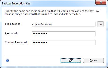 Backup Encryption Key