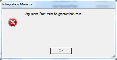 Integration Manager - Argument