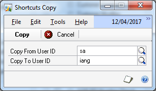 Shortcuts Copy