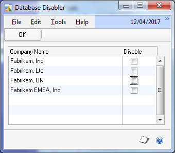 Database Disabler