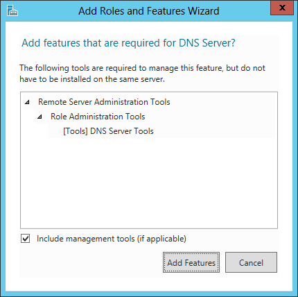 Add Roles And Features Wizard - Add features that are required for DNS Server?