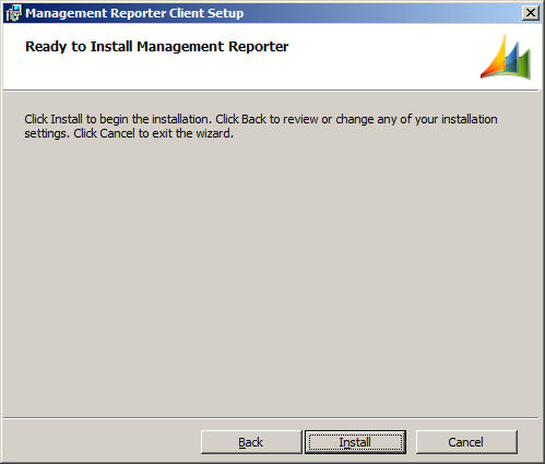 Management Reporter Client Setup - Ready to Install Management Reporter