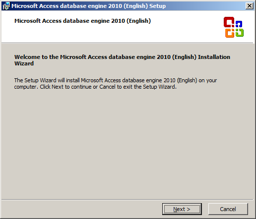 Microsoft Access database engine 2010 (English) Setup