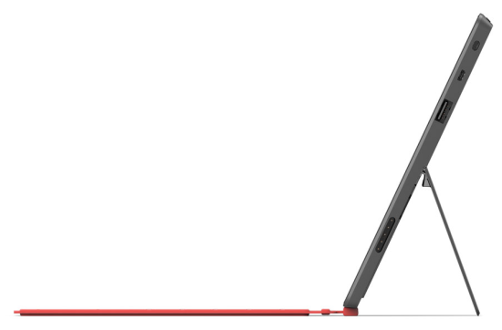 Microsoft Surface is slim and comes with inbuilt kick stand