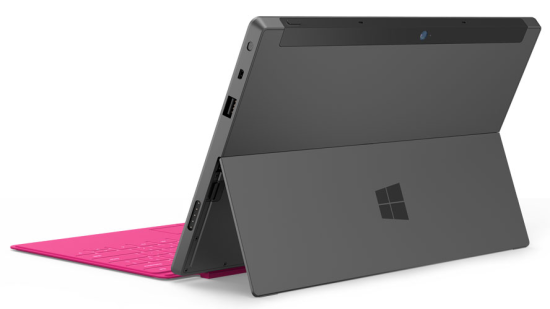 Microsoft Surface comes with inbuilt kick stand