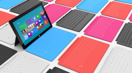 Microsoft Surface available in five colours