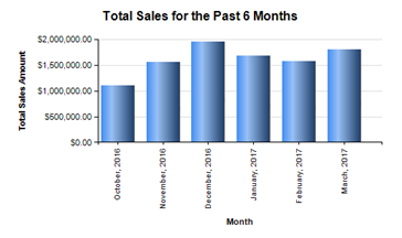 Total Sales for the Past 6 Months