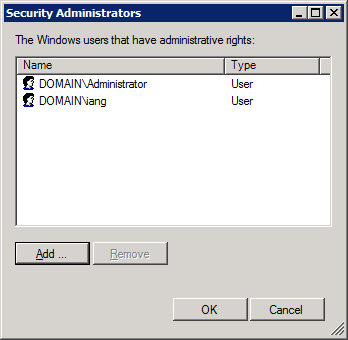 Security Administrators