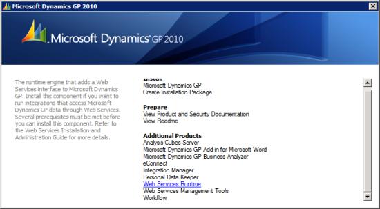 Microsoft Dynamics GP 2010 Setup Utility