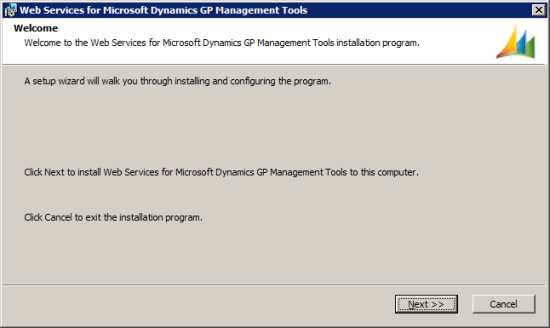Web Services for Microsoft Dynamics GP Management Tools - Welcome