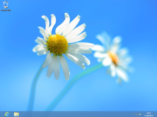 Windows 8 Setup - Windows 8 Desktop