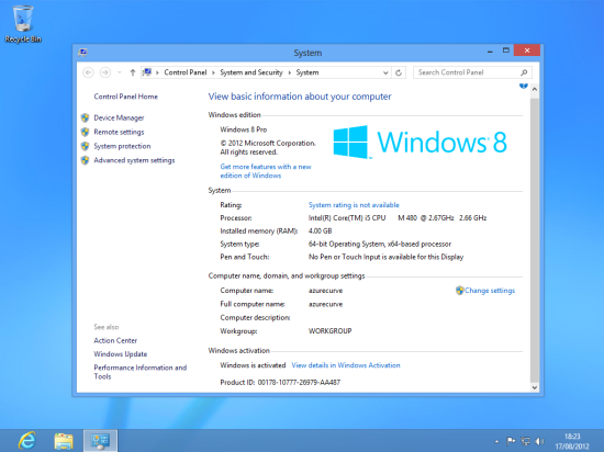 Windows 8 Setup - New Windows Theme