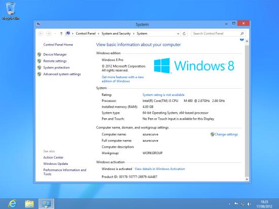 Windows 8 Setup - New Windows Theme