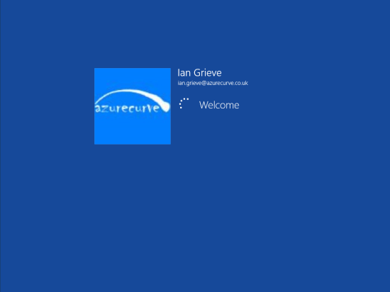Windows 8 Setup - Windows Logon