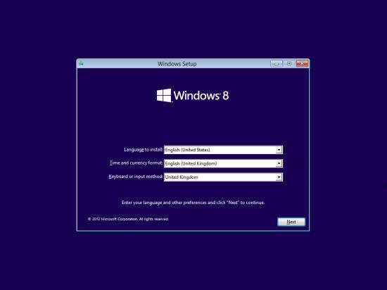 Windows 8 Setup - Language Settings