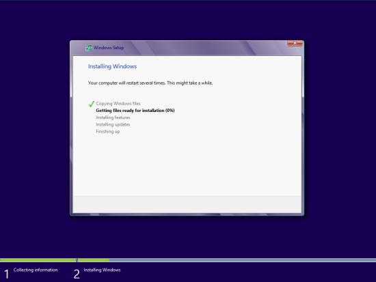 Windows 8 Setup - Installing Windows