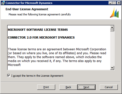 Connector for Microsoft Dynamics - End-User License Agreement