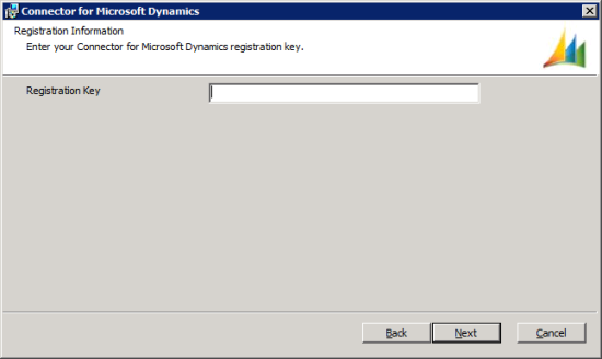 Connector for Microsoft Dynamics - Registration Information
