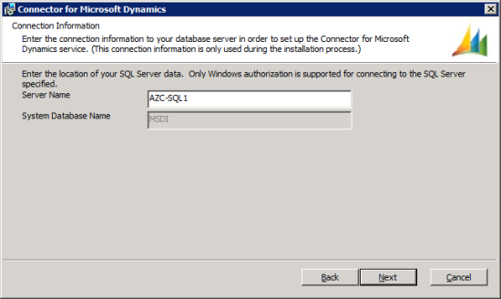 Connector for Microsoft Dynamics - Connection Information