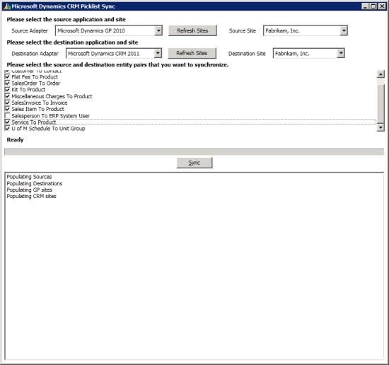 Microsoft Dynamics CRM Picklist Sync