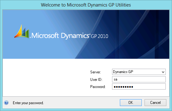 Welcome to Microsoft Dynamics GP Utilities