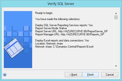 Verify SQL Server