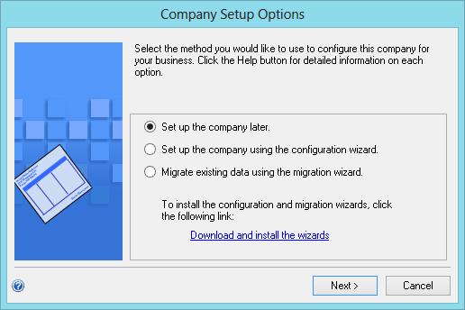 Company Setup Options